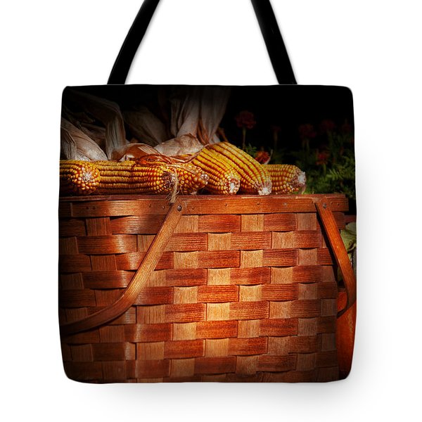 Autumn - Gourd - Fresh Corn Tote Bag by Mike Savad