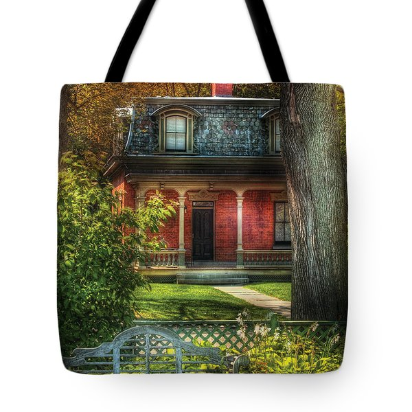 Autumn - House - The Estates Tote Bag by Mike Savad