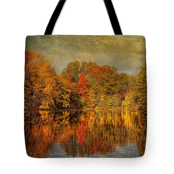 Autumn - Landscape - Tamaques Park - Autumn in Westfield NJ  Tote Bag by Mike Savad