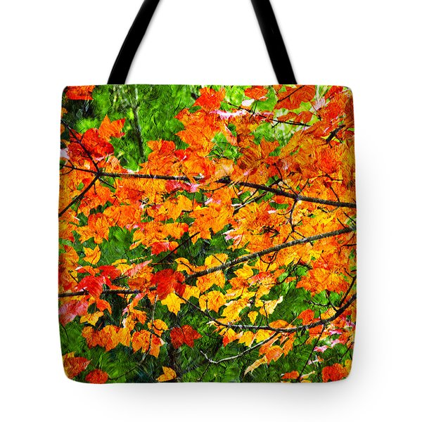 Autumn Abstract Painterly Tote Bag by Andee Design