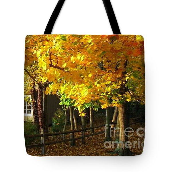 Autumn At Bayberry Cottage  Tote Bag by Nancy Patterson