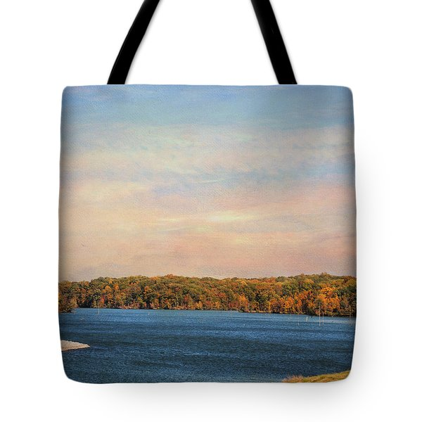 Autumn at Lake Graham Tote Bag by Jai Johnson