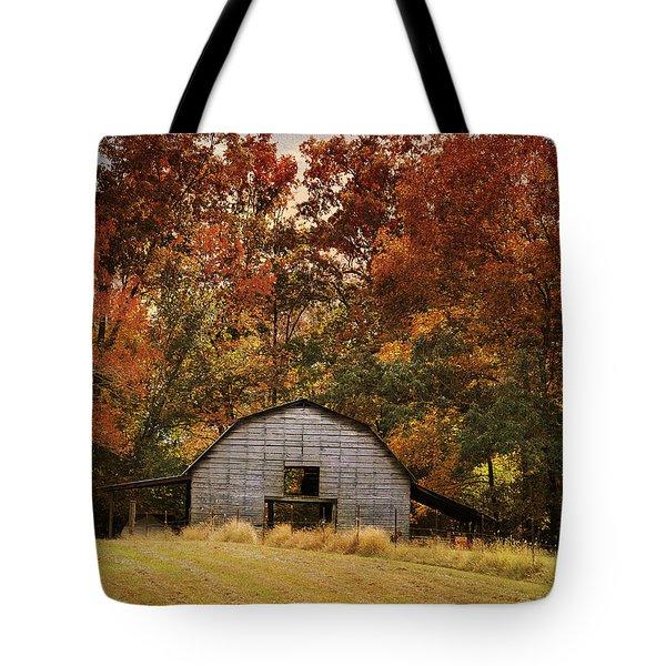 Autumn Barn Tote Bag by Jai Johnson