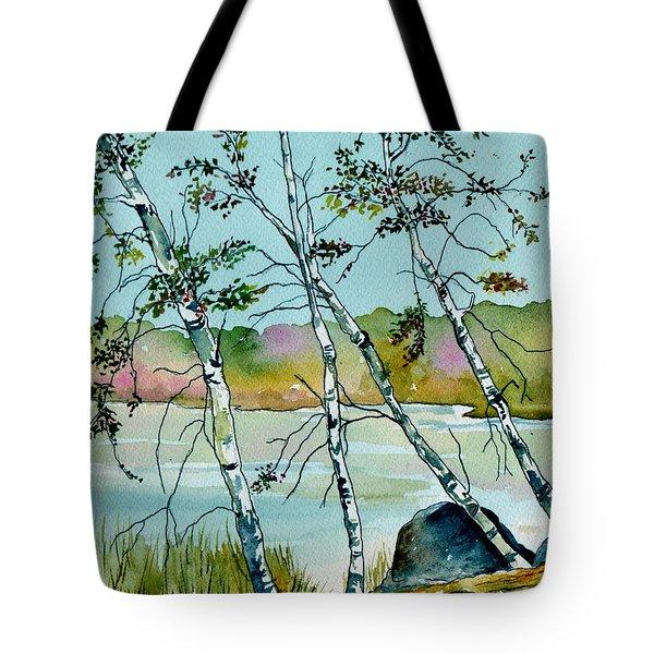 Autumn Birches Tote Bag by Brenda Owen