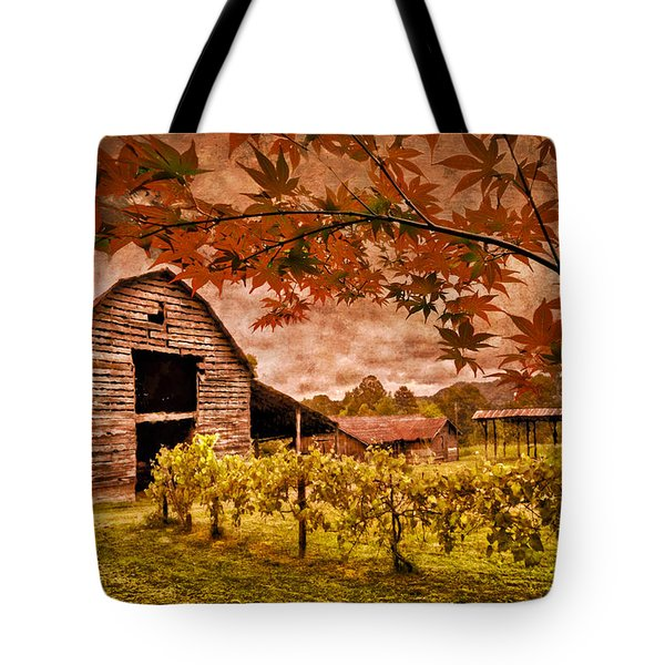 Autumn Cabernet Tote Bag by Debra and Dave Vanderlaan