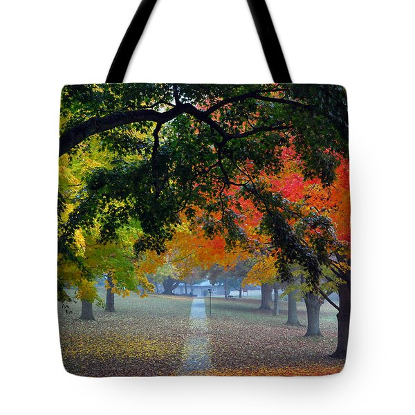 Autumn Canopy Tote Bag by Lisa  Phillips