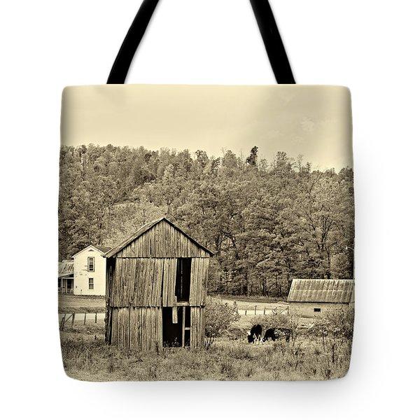 Autumn Farm sepia Tote Bag by Steve Harrington