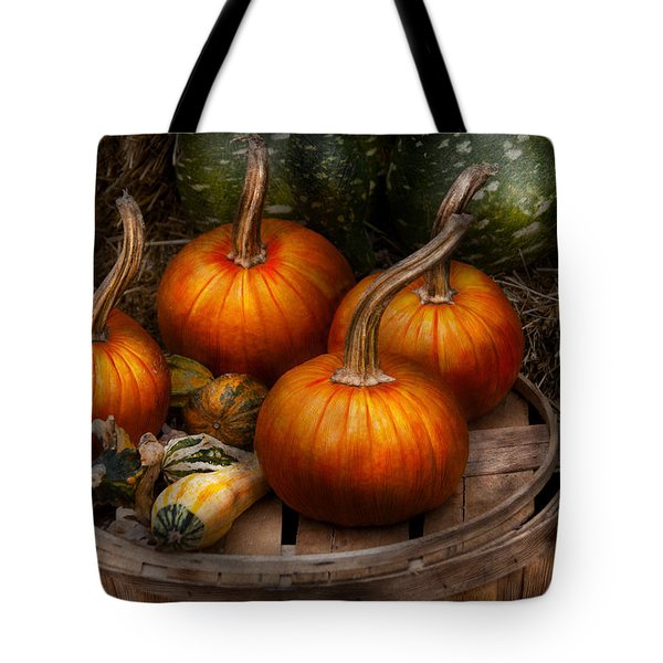 Autumn - Gourd - Pumpkins And Some Other Things  Tote Bag by Mike Savad