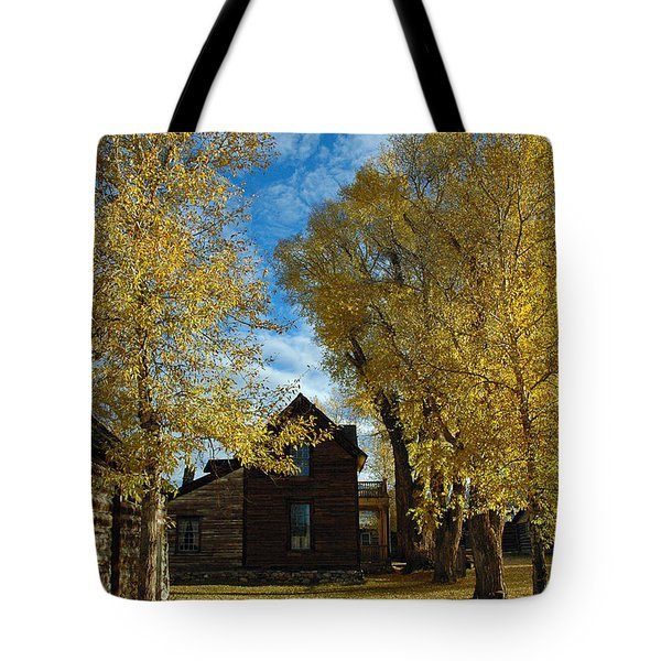 Autumn In Montana's Nevada City Tote Bag by Bruce Gourley