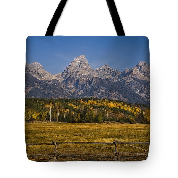 Autumn In The Tetons Tote Bag by Andrew Soundarajan