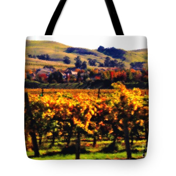 Autumn in the Valley 2 - Digital Painting Tote Bag by Carol Groenen