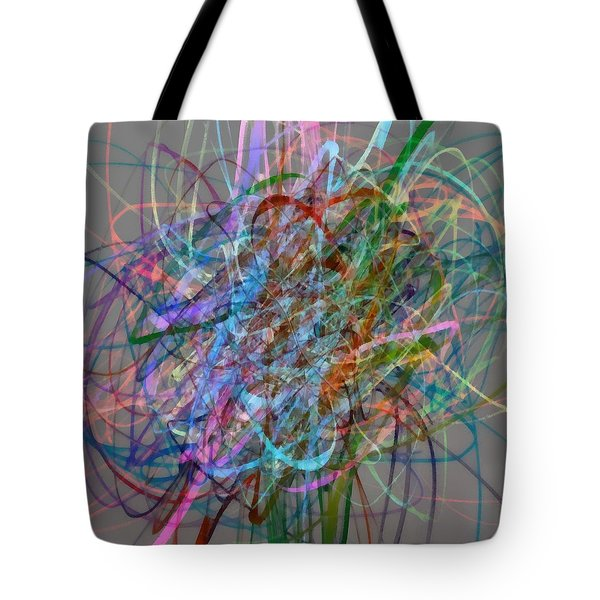 Autumn Likes Lines Tote Bag by Michelle Calkins