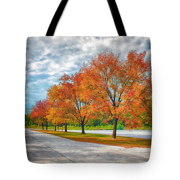 Autumn Trees At Busch Tote Bag by Bill Tiepelman