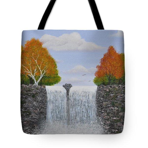 Autumn Waterfall Tote Bag by Georgeta  Blanaru