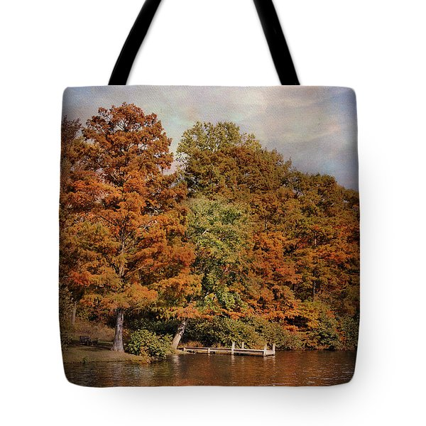 Autumn's Edge Tote Bag by Jai Johnson