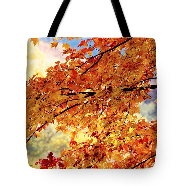 Autumns Gold Great Smoky Mountains Tote Bag by Rich Franco