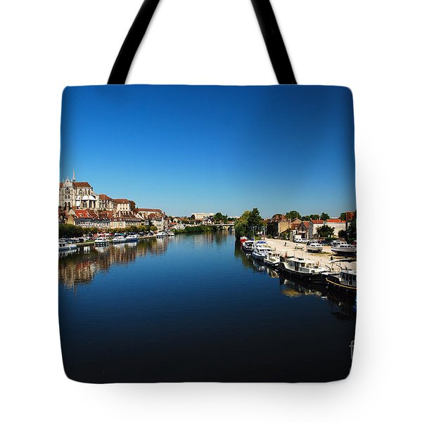 Auxerre France Tote Bag by Hannes Cmarits