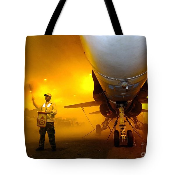 Aviation Boatswains Mate Waves Class Tote Bag by Stocktrek Images