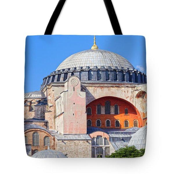 Ayasofya Byzantine Landmark Tote Bag by Artur Bogacki