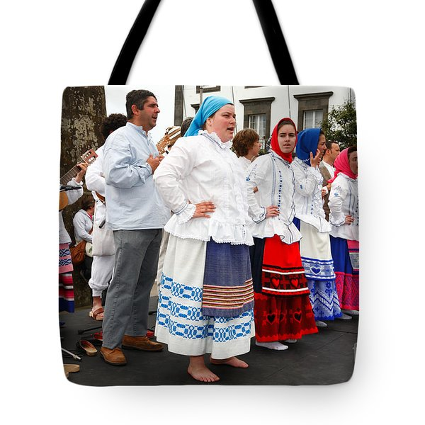 Azorean Folk Music Group Tote Bag by Gaspar Avila