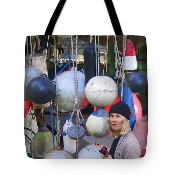 Babe With The Buoys Tote Bag by Kym Backland