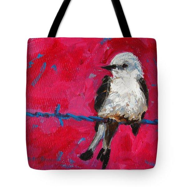 Baby Bird On A Wire Tote Bag by Patricia Awapara