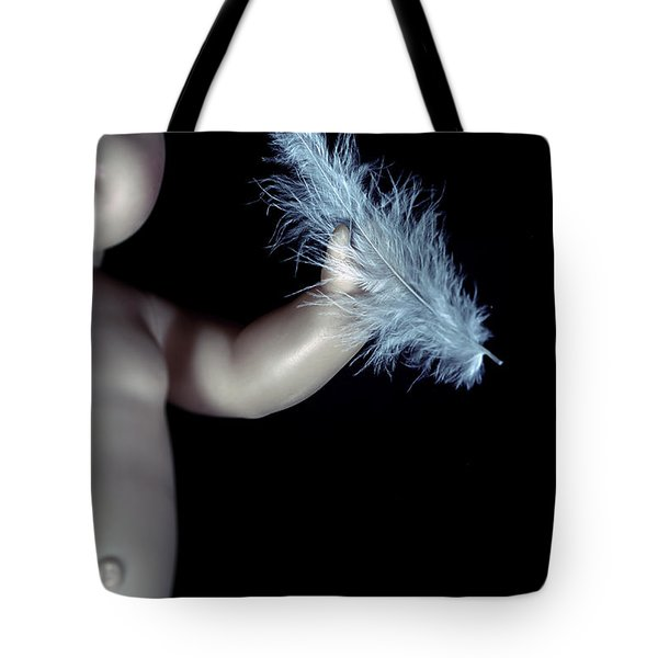 Baby Doll With Feather Tote Bag by Joana Kruse