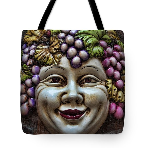 Bacchus God of Wine Tote Bag by David Smith