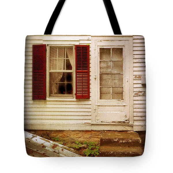 Back Door Of Old Farmhouse Tote Bag by Jill Battaglia