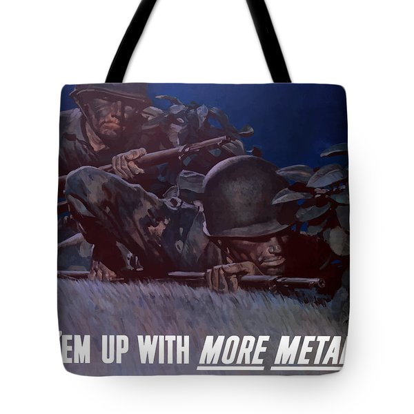 Back 'em Up Tote Bag by War Is Hell Store