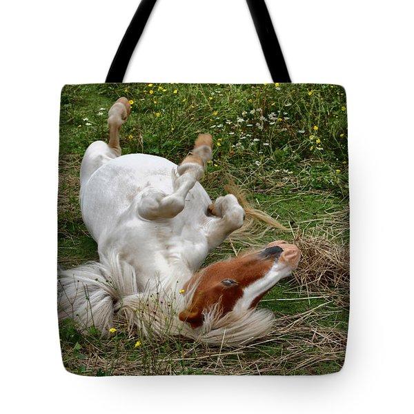 Back Scratching Tote Bag by Karol Livote