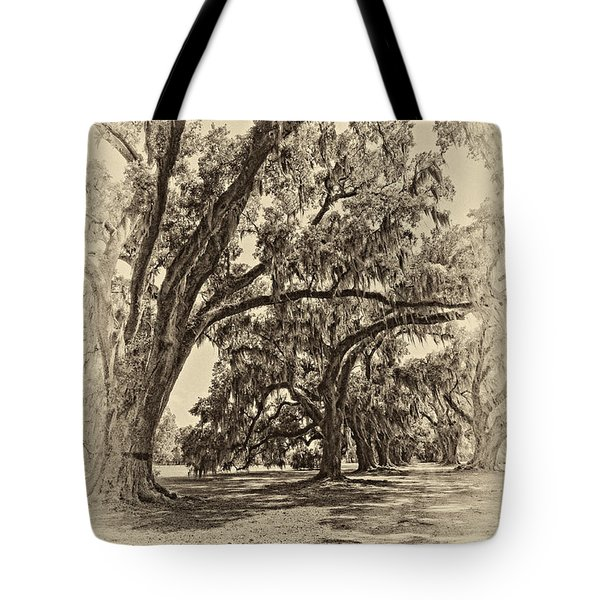 Back to the Future antique sepia Tote Bag by Steve Harrington