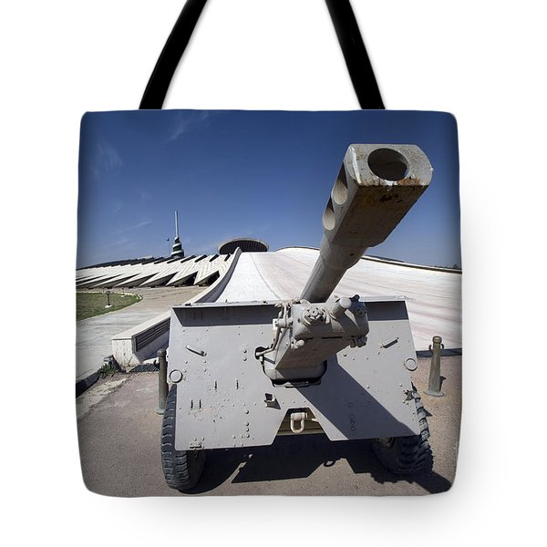 Baghdad, Iraq - An Iraqi Howitzer Sits Tote Bag by Terry Moore