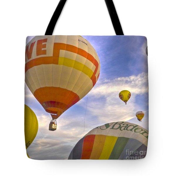 Balloon Ride Tote Bag by Heiko Koehrer-Wagner