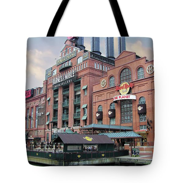 Baltimore Power Plant Tote Bag by Brian Wallace