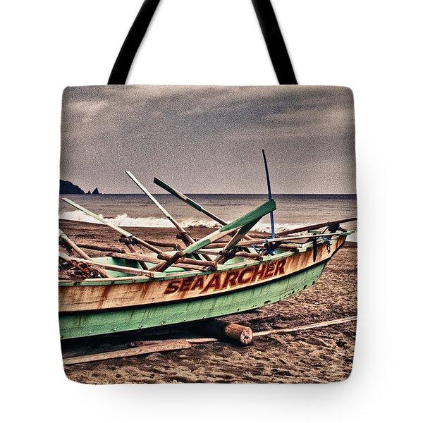 Banca Boat 2 Tote Bag by Skip Nall