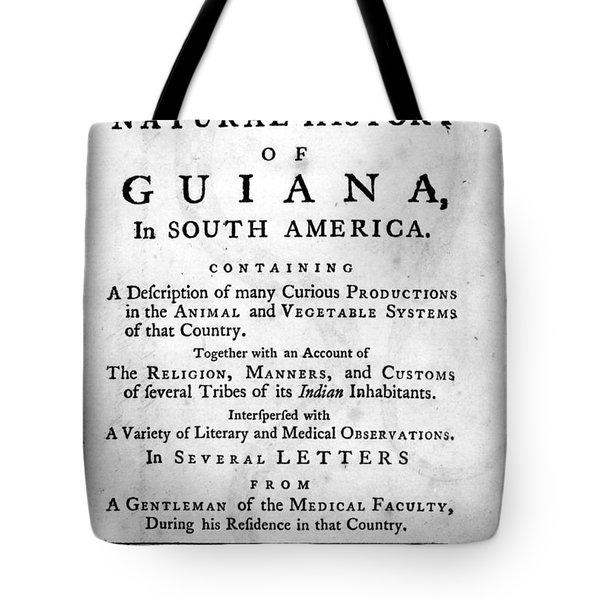 Bancroft: Title Page, 1769 Tote Bag by Granger