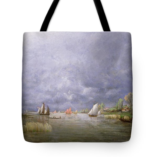 Banks Of The Loire In Spring Tote Bag by Charles Leroux