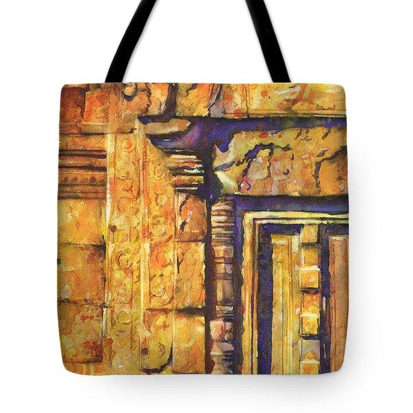 Banteay Srei Doorway Tote Bag by Ryan Fox
