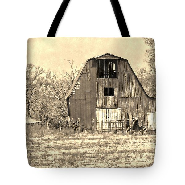 Barn-sepia Tote Bag by EricaMaxine  Price