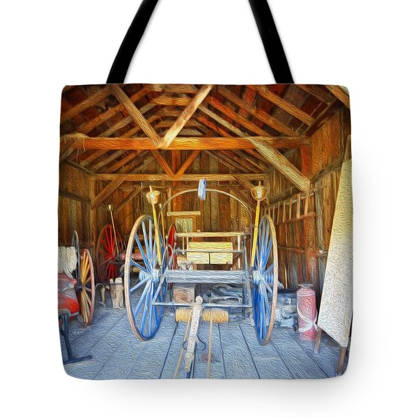 Barn Treasures 2 Tote Bag by Cheryl Young
