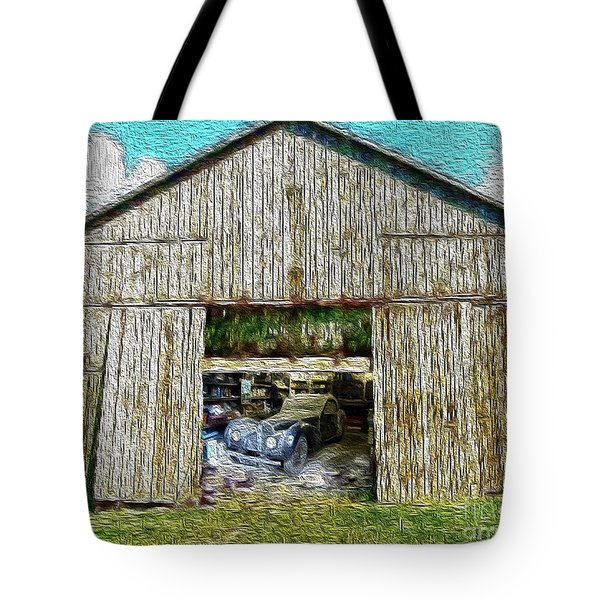 Barn Treasures Tote Bag by Cheryl Young