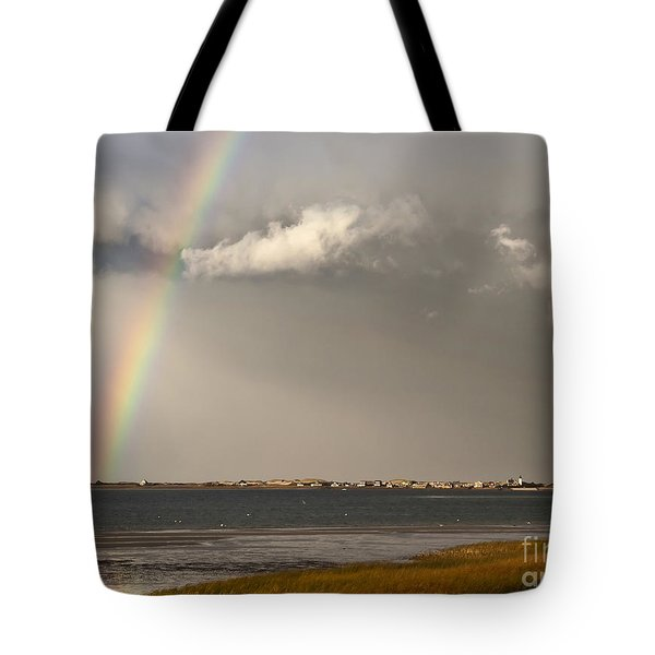 Barnstable Harbor Rainbow Tote Bag by Charles Harden