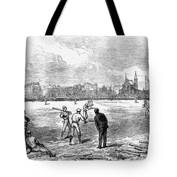 Baseball: England, 1874 Tote Bag by Granger