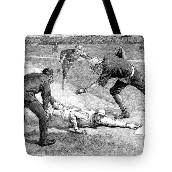 Baseball Game, 1885 Tote Bag by Granger