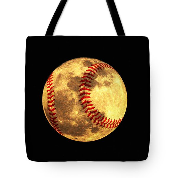Baseball Moon Tote Bag by Bill Cannon