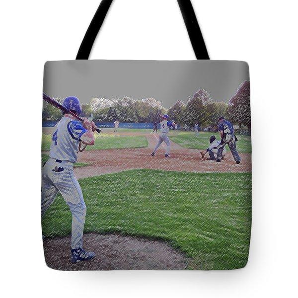 Baseball On Deck Digital Art Tote Bag by Thomas Woolworth