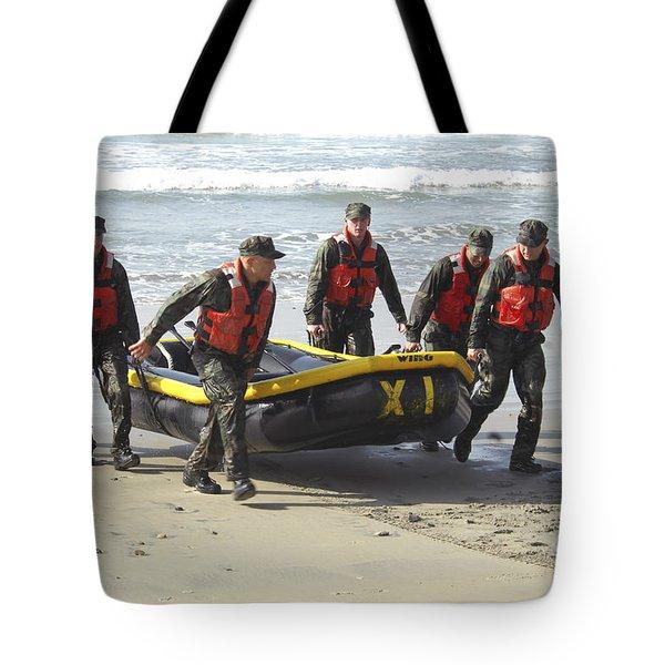Basic Underwater Demolitionseal Tote Bag by Stocktrek Images