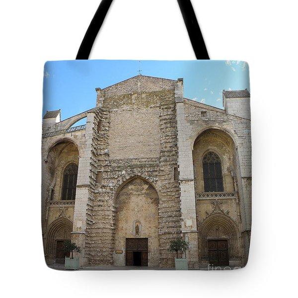 Basilica Of Saint Mary Madalene Tote Bag by Lainie Wrightson