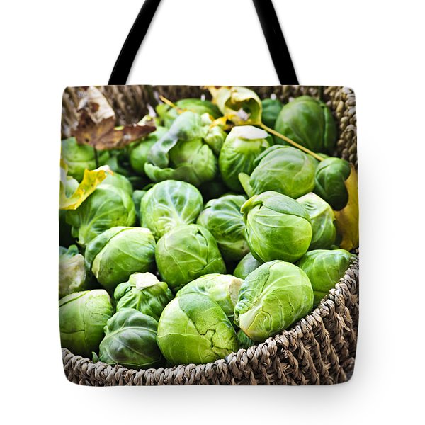 Basket Of Brussels Sprouts Tote Bag by Elena Elisseeva